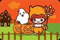Bé Gái Halloween Mẫu Nền Thư