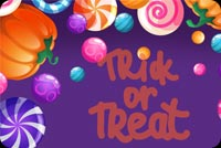 Trick Or Treat Candy Mẫu Nền Thư