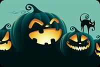 Đêm Trăng Tròn Halloween Mẫu Nền Thư