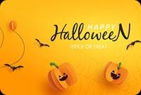 Thiệp Halloween Mẫu Nền Thư