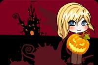 Bé Gái Đi Xin Kẹo Tối Halloween Mẫu Nền Thư