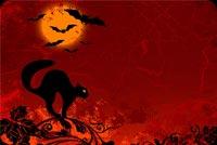 Trăng Tròn Trong Đêm Halloween Mẫu Nền Thư