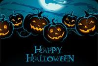 Trăng Tròn & Pumpkins Happy Halloween Mẫu Nền Thư