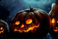 Pumpkins Nhe Răng Ma Quái Mẫu Nền Thư