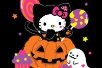 Mèo Kitty Dễ Thương Ngày Halloween Mẫu Nền Thư