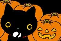 Mèo Đen Rất Dễ Thương Halloween Mẫu Nền Thư