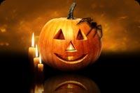 Nhện Đen, Pumpkin & 3 Cây Nến Mẫu Nền Thư
