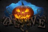 Pumpkin & Chữ Nổi Halloween Mẫu Nền Thư