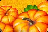 Cánh Đồng Vàng Pumpkin Mẫu Nền Thư