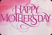 Chữ Đẹp Happy Mother's Day Mẫu Nền Thư