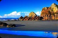 Biển Xanh & Núi Cao Mẫu Nền Thư