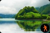 Ảnh Động Cảnh Sông Nước Hữu Tình Mẫu Nền Thư