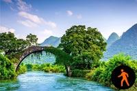 Ảnh Động Sông Nước Hữu Tình Mẫu Nền Thư