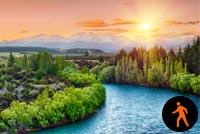Ảnh Động Dòng Sông Êm Đềm Mẫu Nền Thư