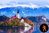 Ảnh Động Lake Bled Slovenia Mẫu Nền Thư