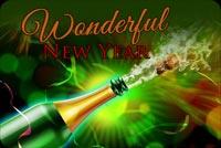 Chúc Năm Mới Tuyệt Vời Mẫu Nền Thư