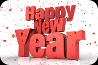 Happy New Year 3d Mẫu Nền Thư