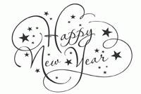 Chữ Đẹp Happy New Year Mẫu Nền Thư