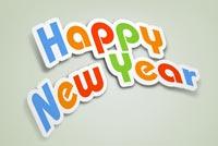 Chữ Đẹp New Year Mẫu Nền Thư