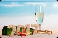 Rượu Mừng Năm Mới 2017 Mẫu Nền Thư