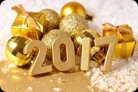 Golden Year 2017 Mẫu Nền Thư