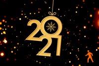Ảnh Động Chúc Mừng Năm Mới 2021 Mẫu Nền Thư