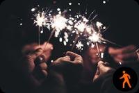 Ảnh Động Cùng Bạn Mừng Năm Mới Mẫu Nền Thư