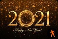 Ảnh Động Pháo Hoa Mừng Năm Mới 2021 Mẫu Nền Thư