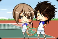 Chơi Đánh Tennis Mẫu Nền Thư
