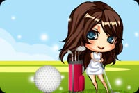 Nữ Đánh Golf Chuyên Nghiệp Mẫu Nền Thư