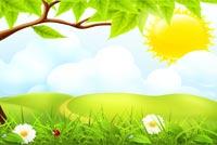 Một Buổi Sáng Mùa Xuân Mẫu Nền Thư