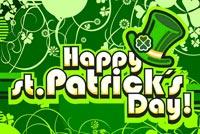 St Patrick's Day May Mắn Mẫu Nền Thư