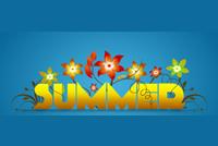 Summer Nghệ Thuật Mẫu Nền Thư