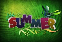 Happy Summer Mẫu Nền Thư