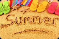 Summer Trên Cát Mẫu Nền Thư