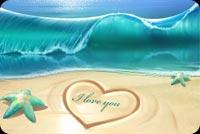 Mùa Hè Yêu Thương, Biển Xanh Cát Vàng Mẫu Nền Thư