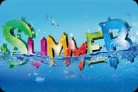 Summer Mẫu Nền Thư