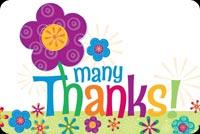 Many Thanks! Vẽ Hoa Cám Ơn Bạn Mẫu Nền Thư