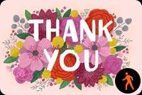 Hoa Nở Thank You Mẫu Nền Thư