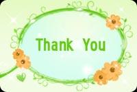 Thank You Mẫu Nền Thư