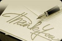Viết Mực Cám Ơn Thank You Mẫu Nền Thư