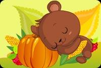 Gấu Con Nằm Ngủ Mẫu Nền Thư