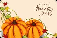 Pumpkin Thanksgiving Mẫu Nền Thư