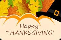 Thiệp Thanksgiving Tặng Bạn Mẫu Nền Thư