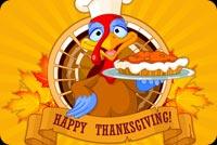 Đại Tiệc Thanksgiving Mẫu Nền Thư
