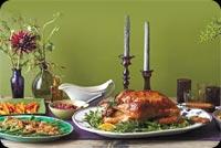 Bữa Tối Lễ Tạ Ơn Thịnh Xoạn Mẫu Nền Thư