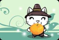 Mèo Con Và Trái Pumpkin Mẫu Nền Thư