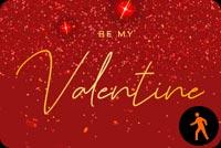 Ảnh Động Be My Valentine Mẫu Nền Thư