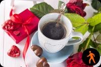 Ảnh Động Buổi Sáng Valentine Mẫu Nền Thư
