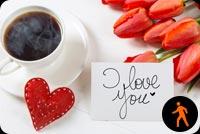 Ảnh Động Cà Phê Nóng Với Lời Nhắn I Love You Mẫu Nền Thư